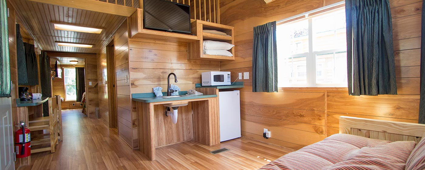Interior of Luxury Camping Experience at Lighthouse Point