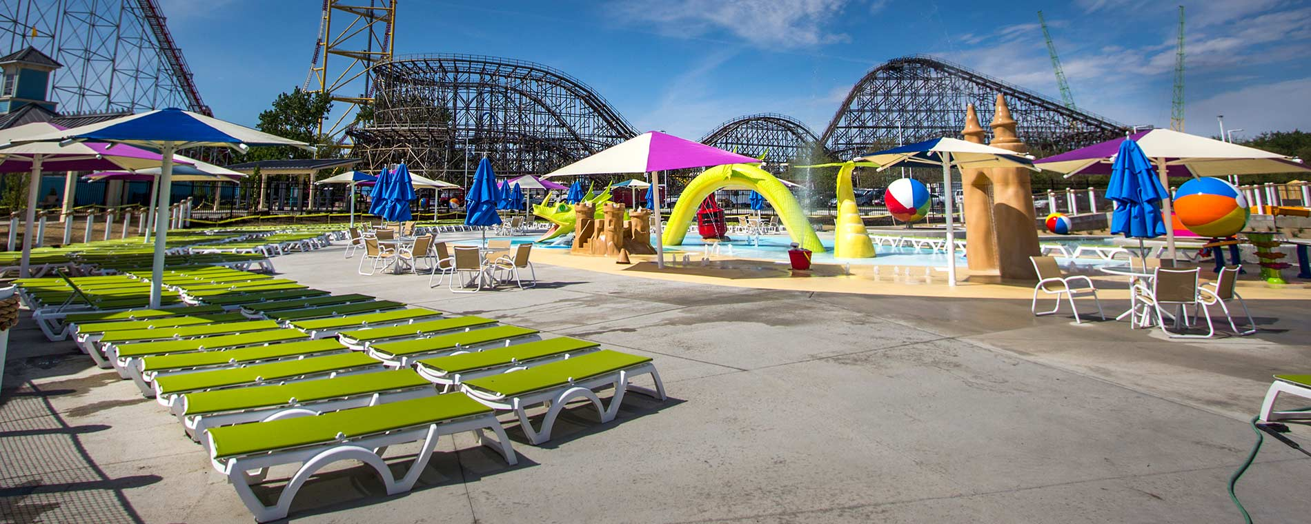 Lakeslide Landing Sun Deck at Cedar Point Shores Water Park