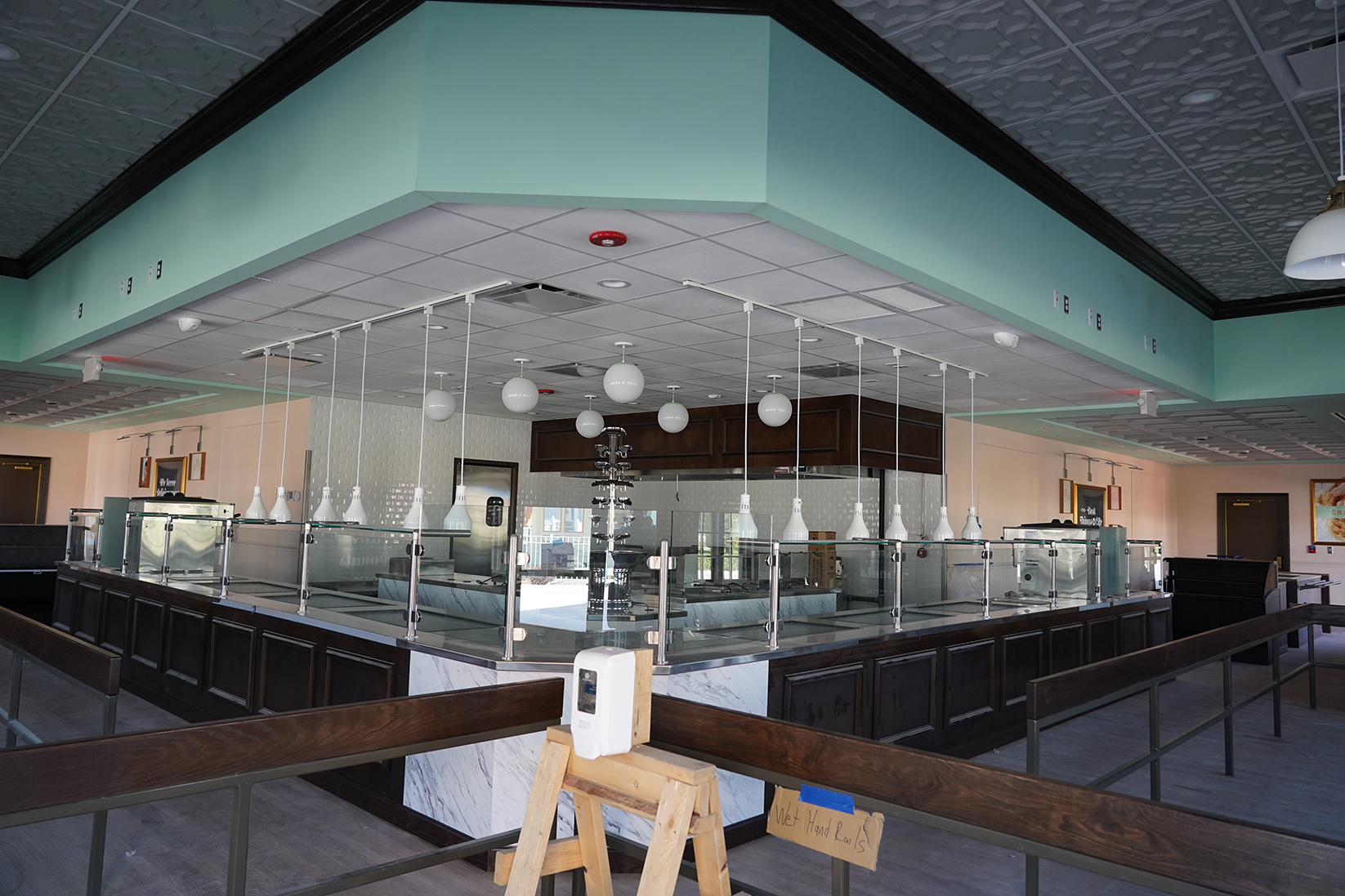 Newly renovated interior of French Quarter Confections at Cedar Point