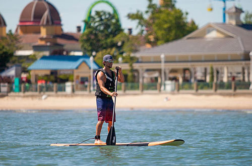 Paddle Boards on Lake Erie at Cedar Point