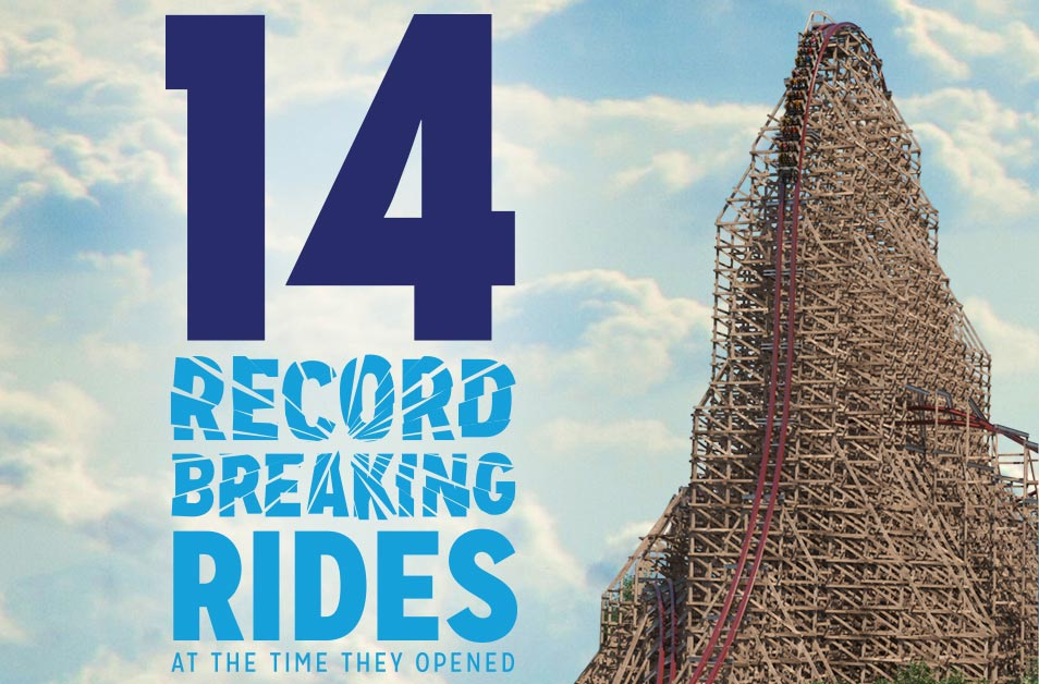 14 Record Breaking Rides at the Time They Opened