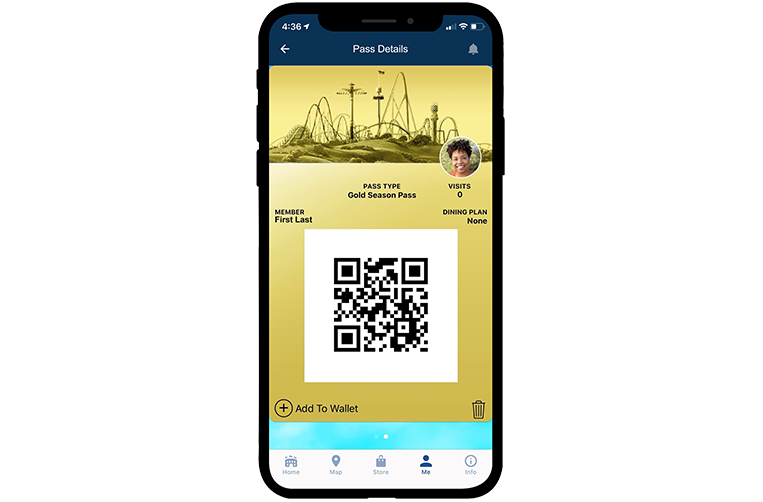 Cedar Point Mobile App Digital Pass
