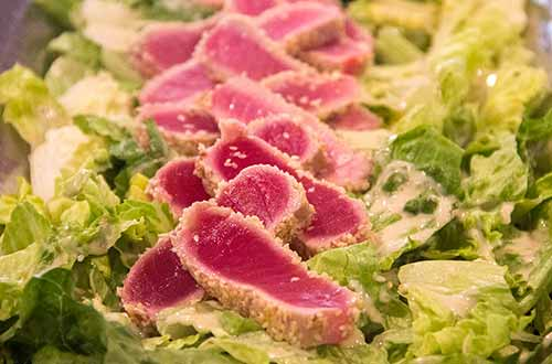 Seared Tuna Caesar Salad