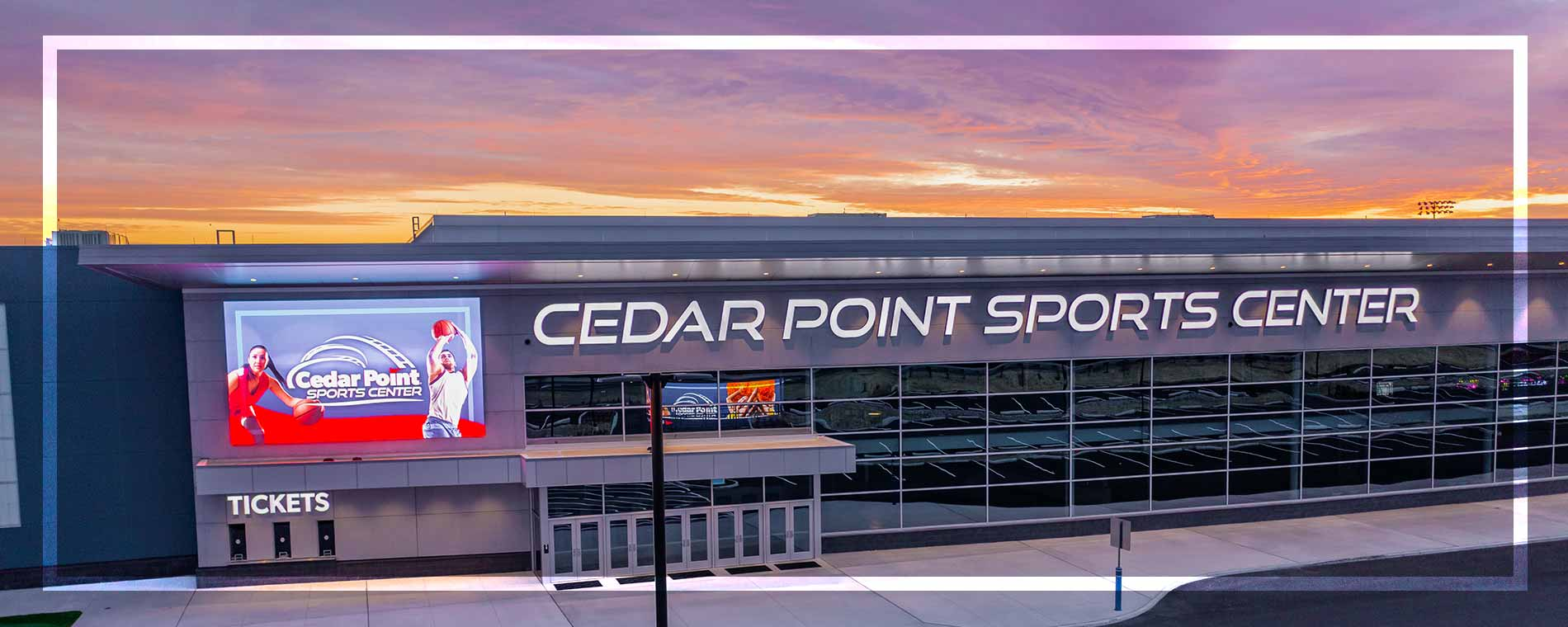 Cedar Point Sports Center Exterior Sunset 2