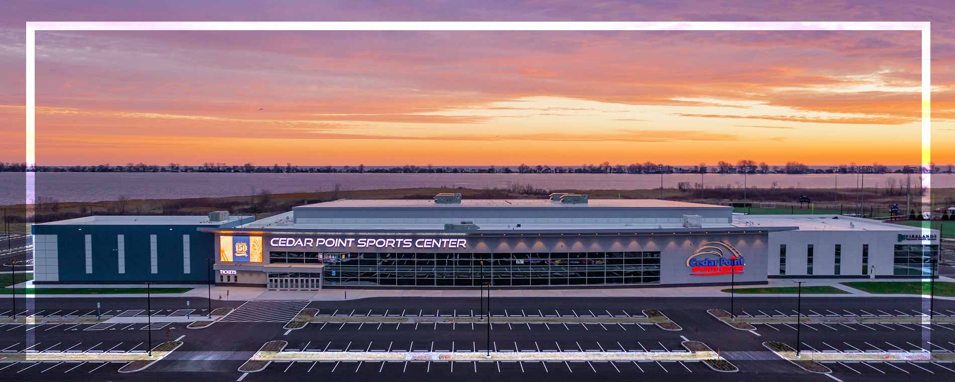 Cedar Point Sports Center Exterior Sunset 1