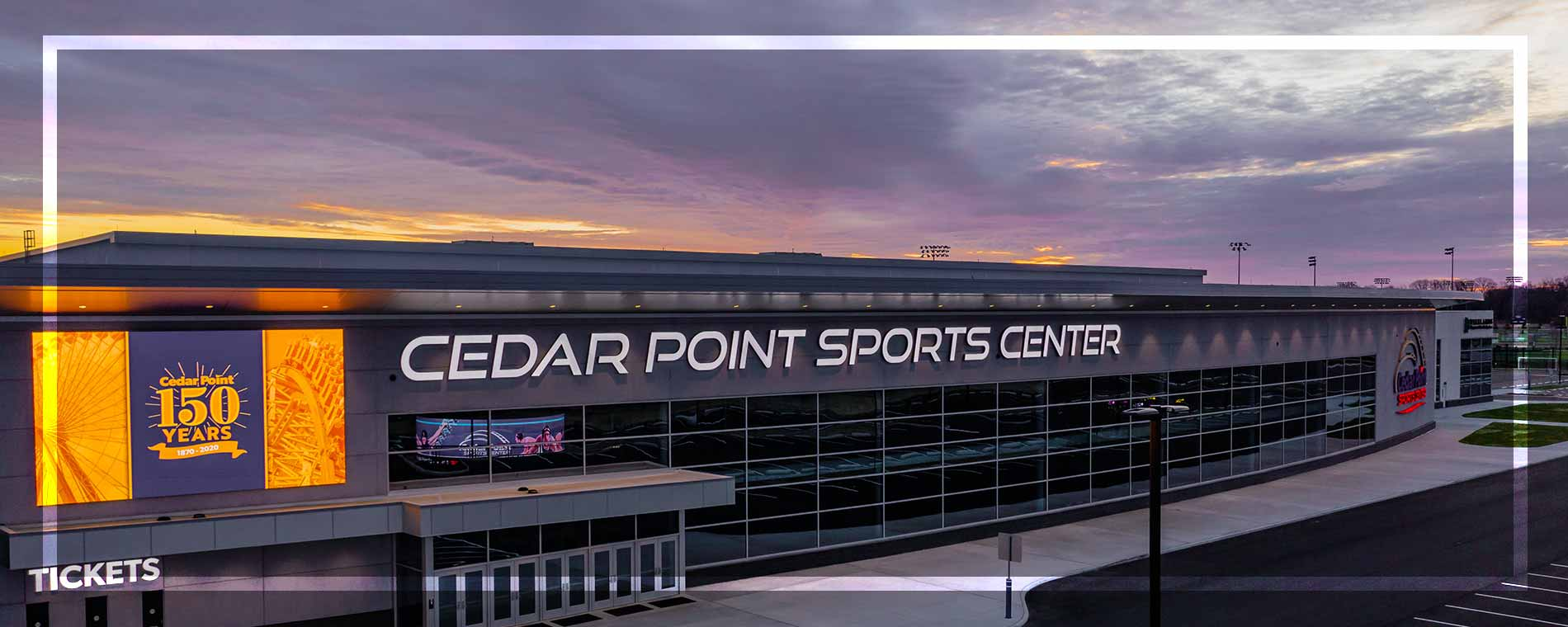 Cedar Point Sports Center Exterior Sunset 3