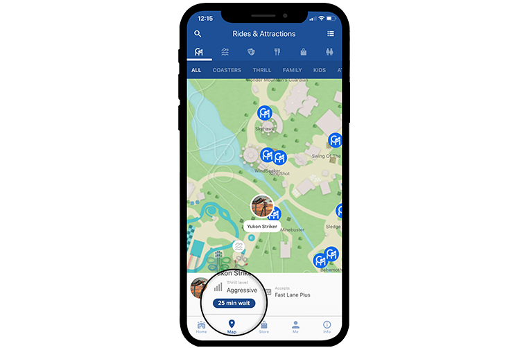 Canada's Wonderland Mobile App Ride Wait Times