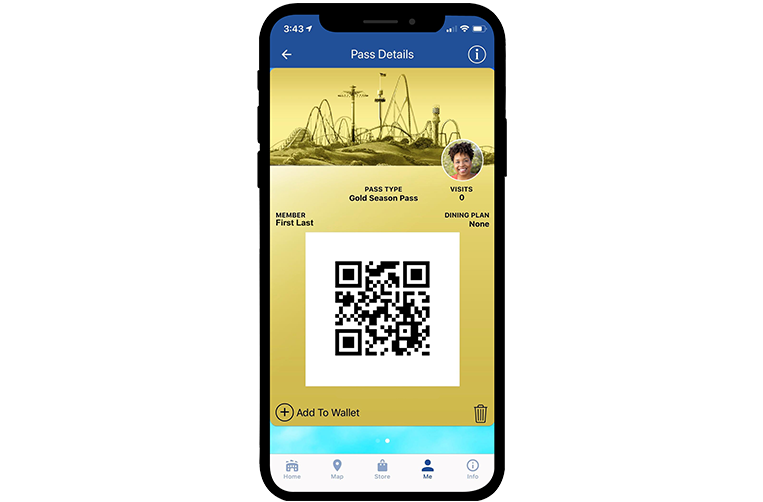 Kings Dominion Mobile App Digital Pass