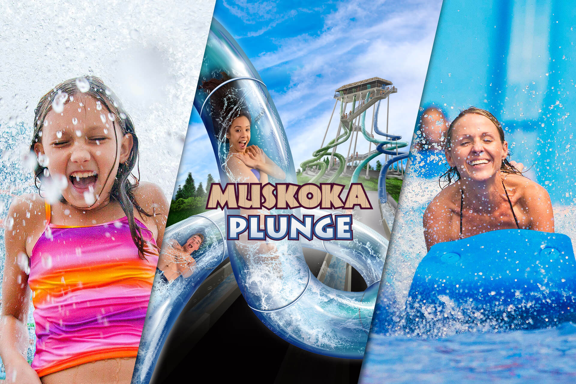 Muskoka Plunge at Canada's Wonderland's Splash Works Water Park in Toronto