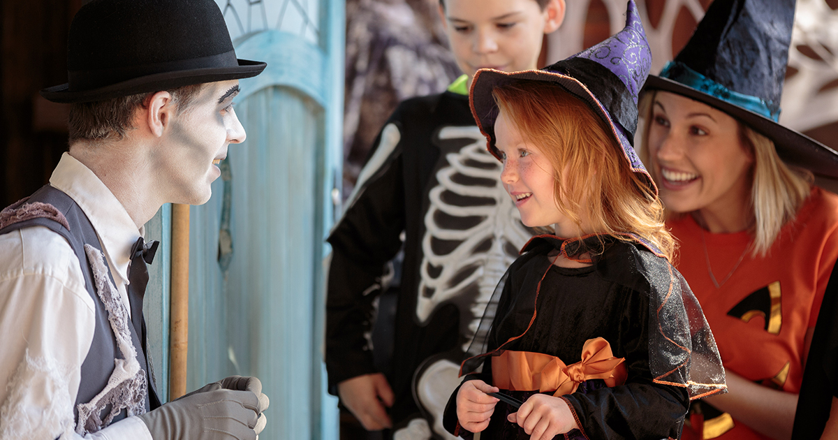 Child trick-or-treating at Canada's Wonderland's Halloween events for Kids