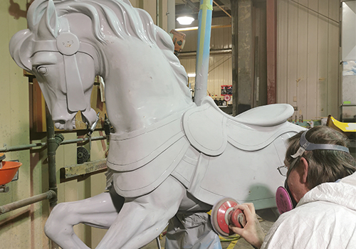 Carousel Refurbishing and Repainting at Canada's Wonderland