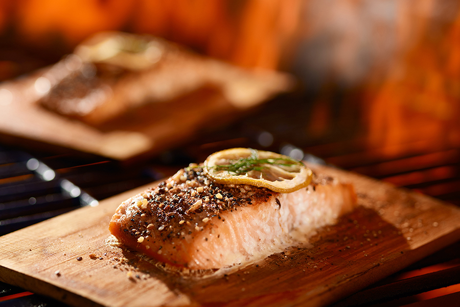 BBQ Cedar-Plank Salmon With Maple, Orange and Lemon Glaze From Canada's Wonderland