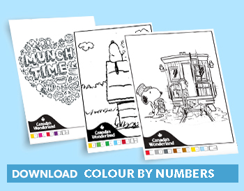Printable Colour by Numbers Colouring Pages from Canada's Wonderland