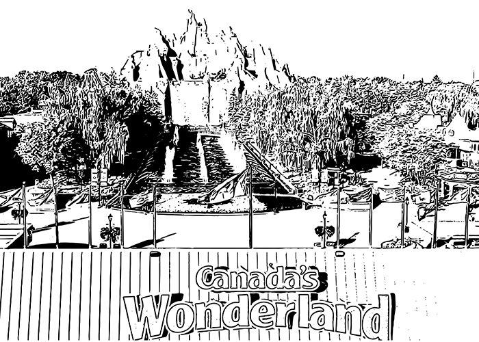 Printable colouring sheet Wonder Mountain
