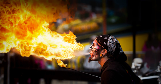 Fire breather at Canada's Wonderland's Halloween event