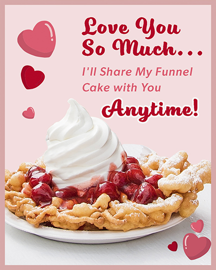 Valentine's Day Funnel Cake Card