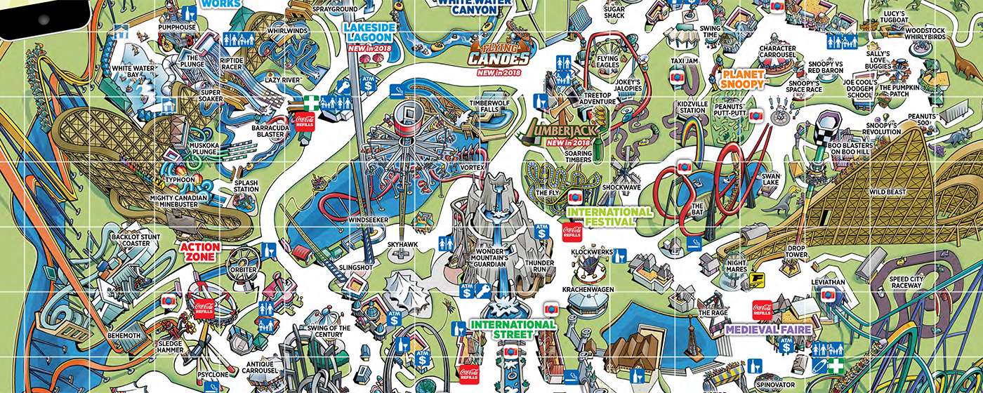 Map Of Canadas Wonderland 2017.What S New On The 2018 Canada S Wonderland Park Map Canada S