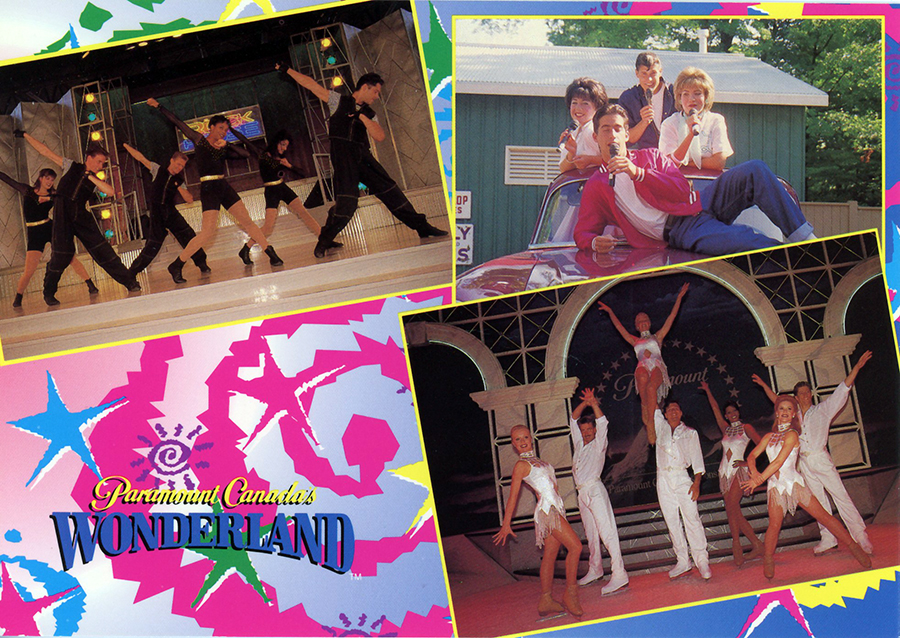 Postcard of Entertainment at Paramount Canada's Wonderland