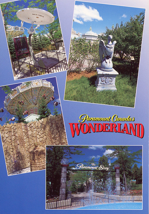 Movie props postcard from Paramount Canada's Wonderland