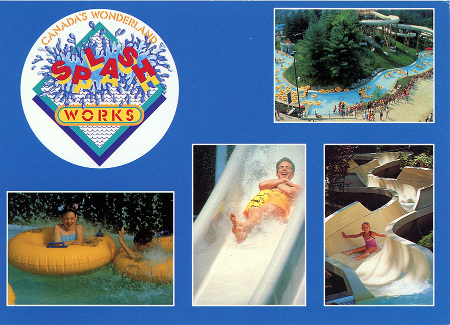 Splash Works postcard Canada's Wonderland circa 1992