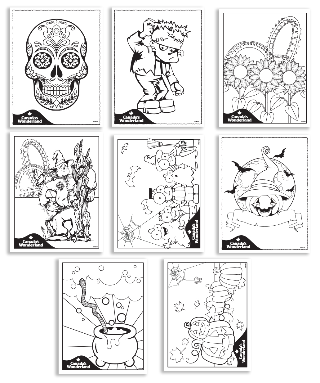Canada's Wonderland Colouring Sheets