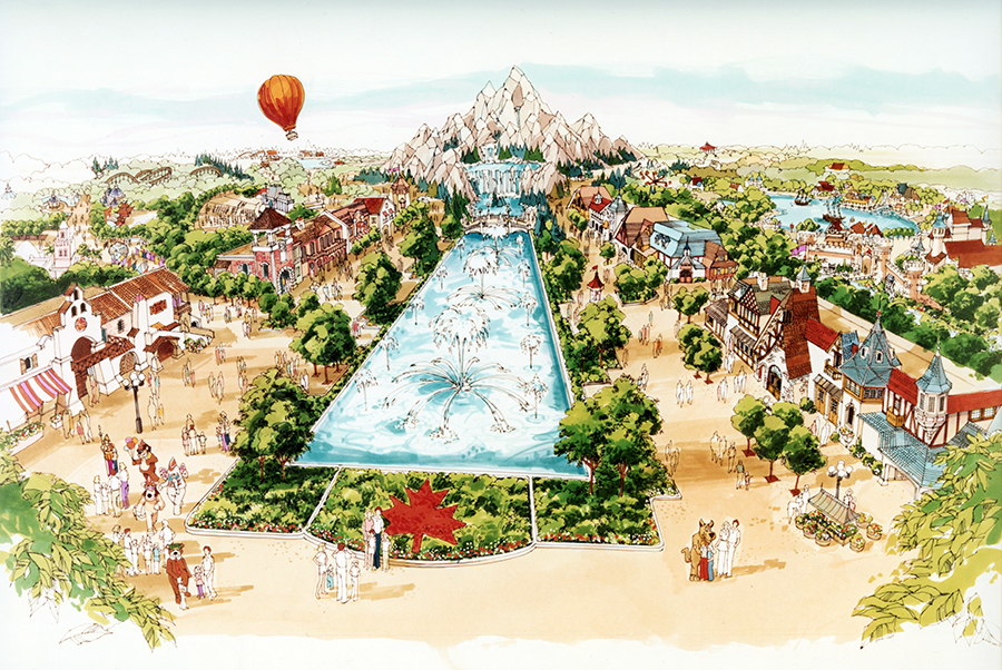 Artists rendering of International Street at Canada's Wonderland