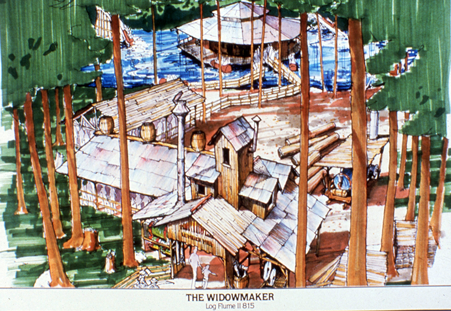 Historic rendering of The Widowmaker at Canada's Wonderland