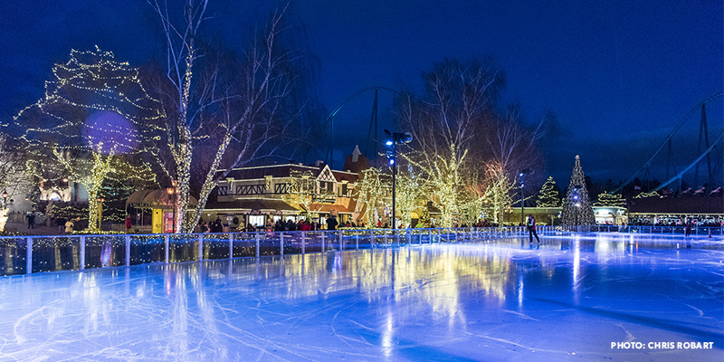 WinterFest's ice skating rink