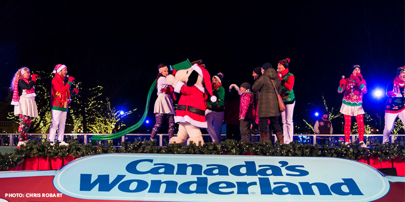 Canada's Wonderland's Christmas tree lighting ceremony
