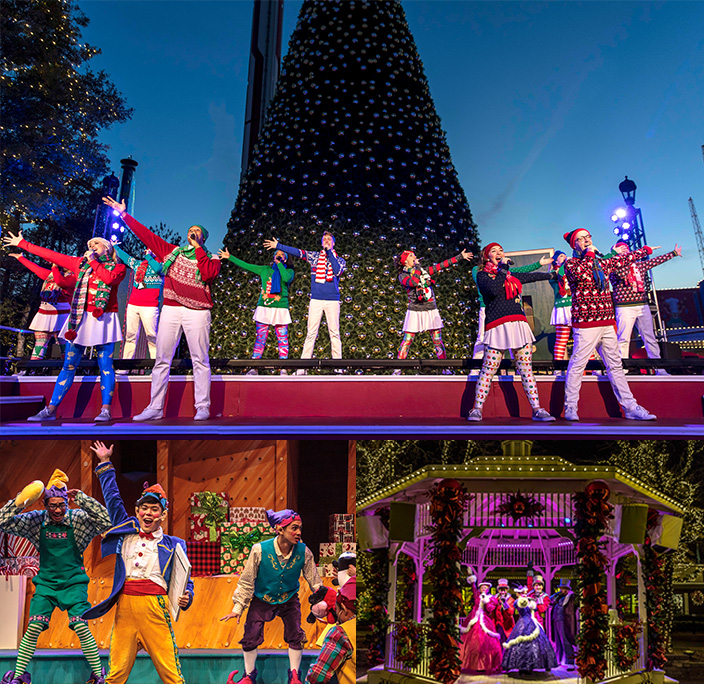 Christmas carolers and performers at Canada's Wonderland's winter festival!