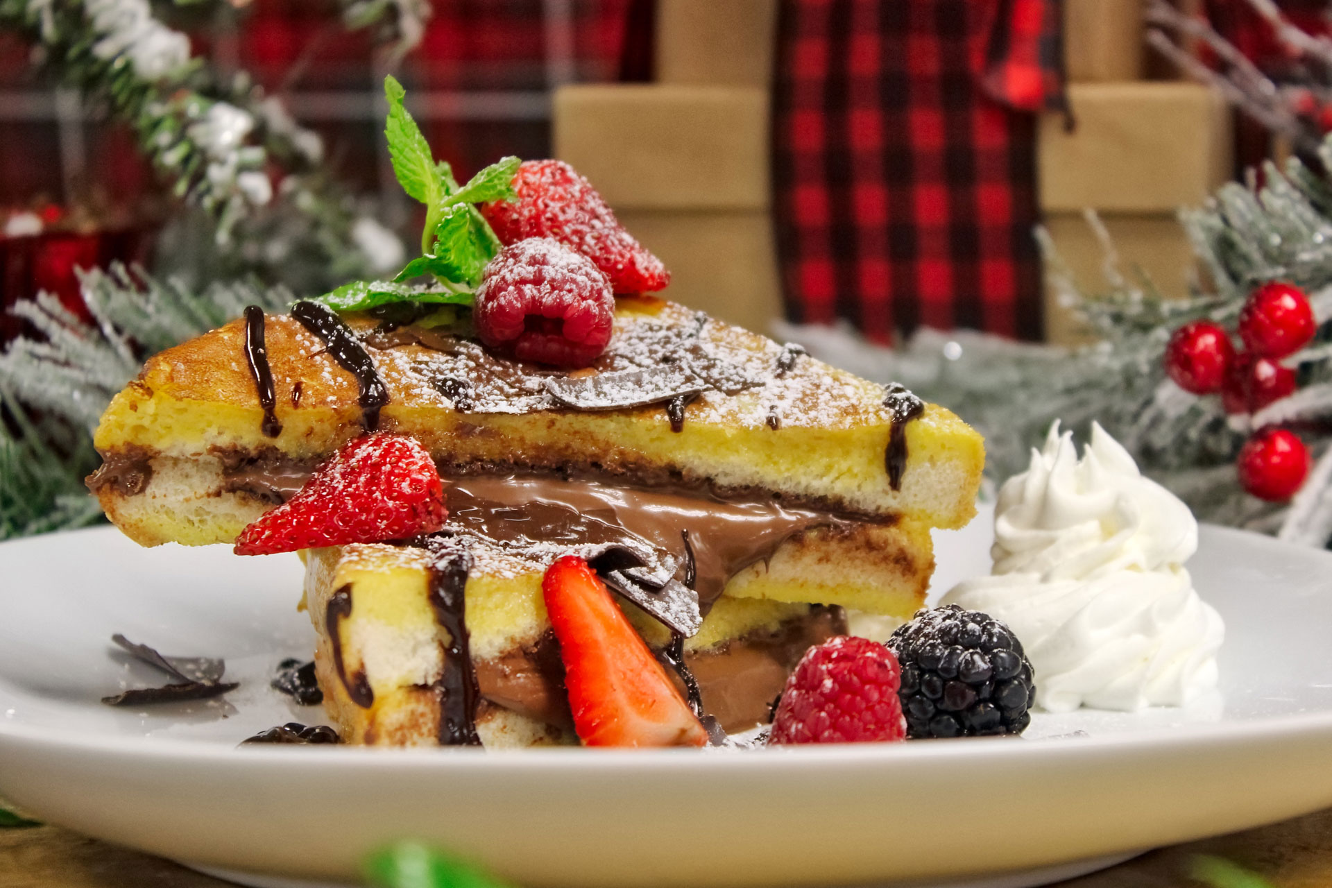 Try our nutella french toast during our Christmas events!