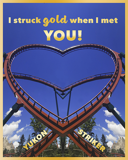 I struck gold when I met you downloadable Valentines Day card