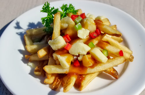 Poutine at the Canada Day Celebration