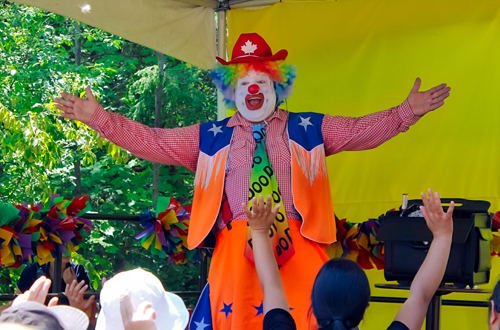 Doo Doo the Clown at Canada's Wonderland's Kids Festival
