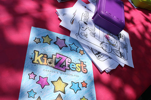 Colouring Sheets - KidZfest at Canada's Wonderland