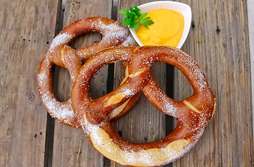 Bavarian Pretzel with Cheese Sauce at Canada's Wonderland's Oktoberfest Food Festival