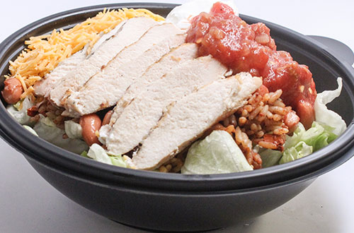 Naked Burrito Bowl at La Cantina