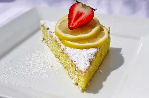 Greek Lemon Cake - Taste of Greece at Canada's Wonderland