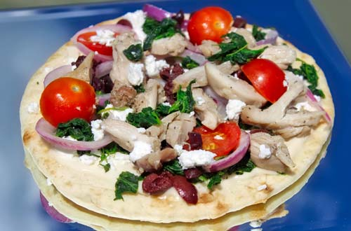 Traditional Greek Pizza – Chicken Gyro - Taste of Greece at Canada's Wonderland