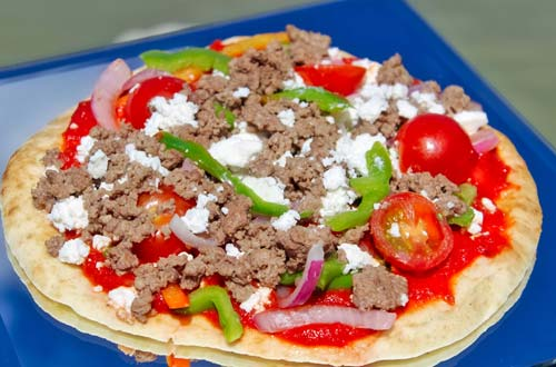 Traditional Greek Pizza – Ground Beef - Taste of Greece at Canada's Wonderland