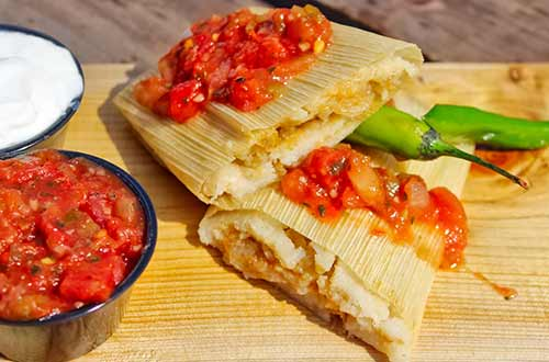Steamed Cheese Tamales