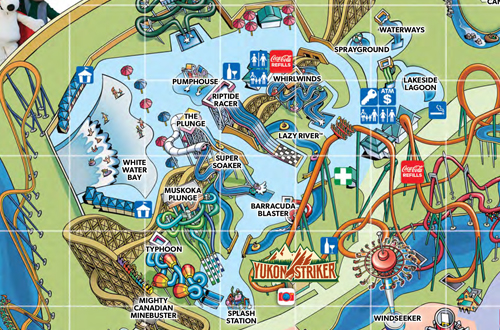 Map Of Canadas Wonderland 2017.Water Park In Toronto Canada S Splash Works Canada S Wonderland