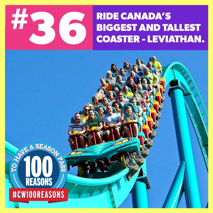 Ride Canada's Biggest and Tallest Coaster - Leviathan.