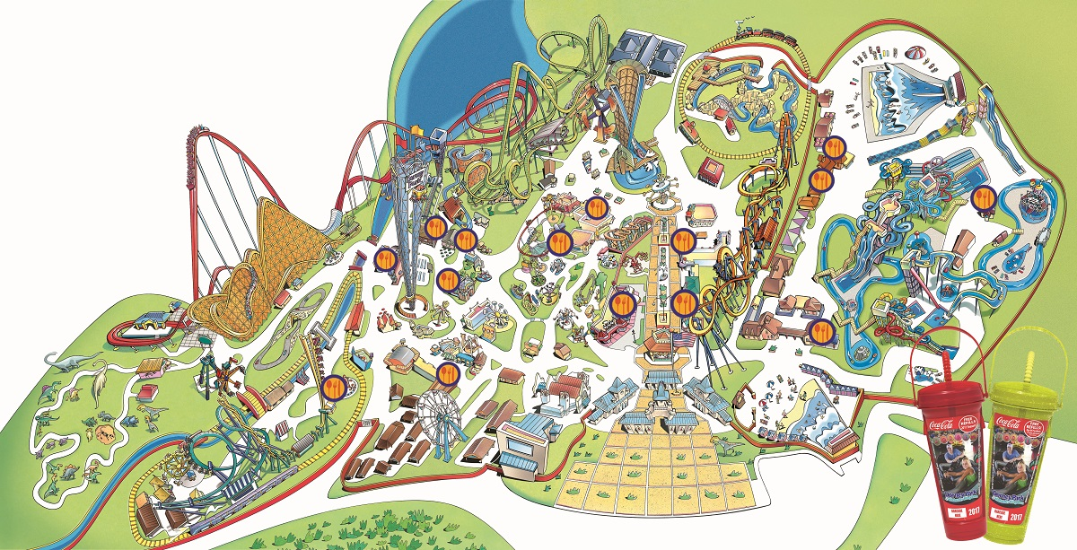 The Best Way to Dine and Drink at Dorney Park - Dorney Park Dorney Park Map on valley fair map, knott's berry farm park map, garden of the gods park map, kings dominion map, cedar point map, dixie landin map, hershey park zoo map, burke lake park map, flintstones bedrock city map, dutch wonderland map, long island new york city map, michigan's adventure map, hersheypark map, great adventure map, ghost town in the sky map, disneyland map, woodland park zoo map, knoebels map, six flags map, darien lake park map,