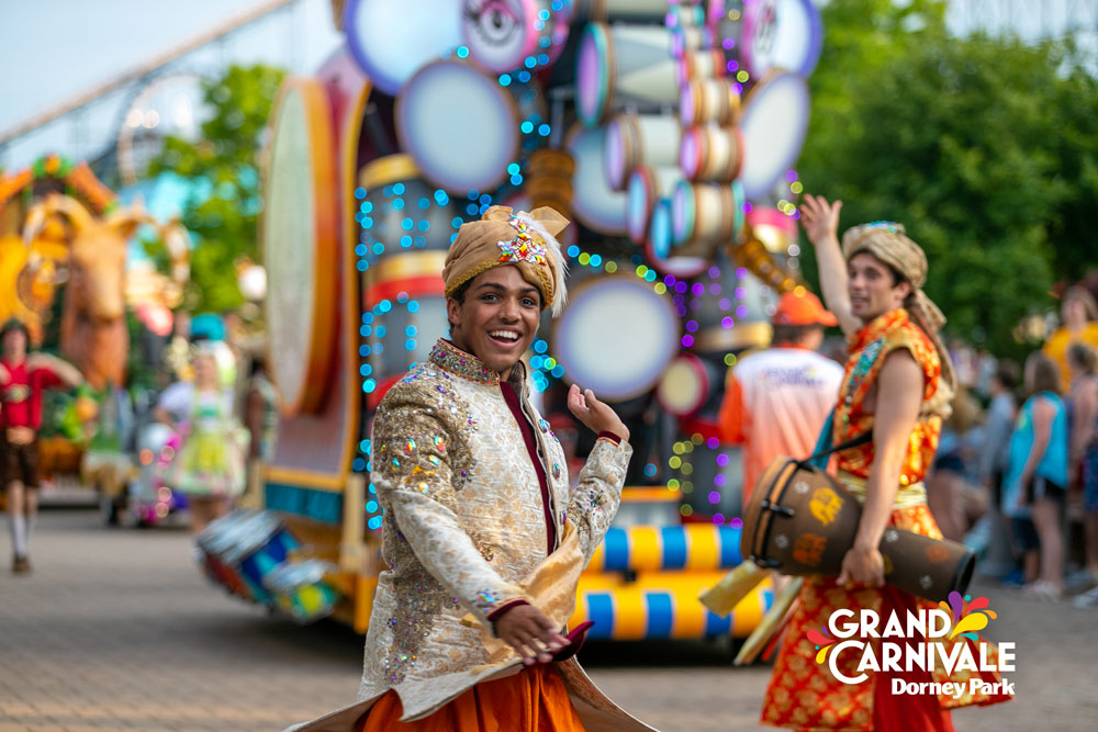 Prince of India in Grand Carnivale Parade at Dorney Park