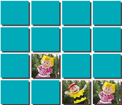 Free Peanuts Character Memory Game from Dorney Park