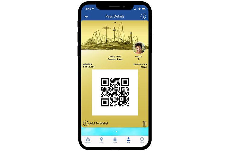 Dorney Park Mobile App Digital Season Pass Details
