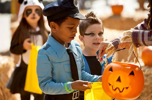 Trick-Or-Treat Street at Dorney Park's Halloween Event