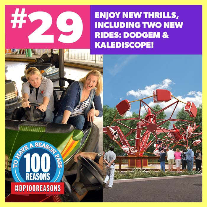 Enjoy new thrills, including two new rides: Dodgem & Kaleidoscope!