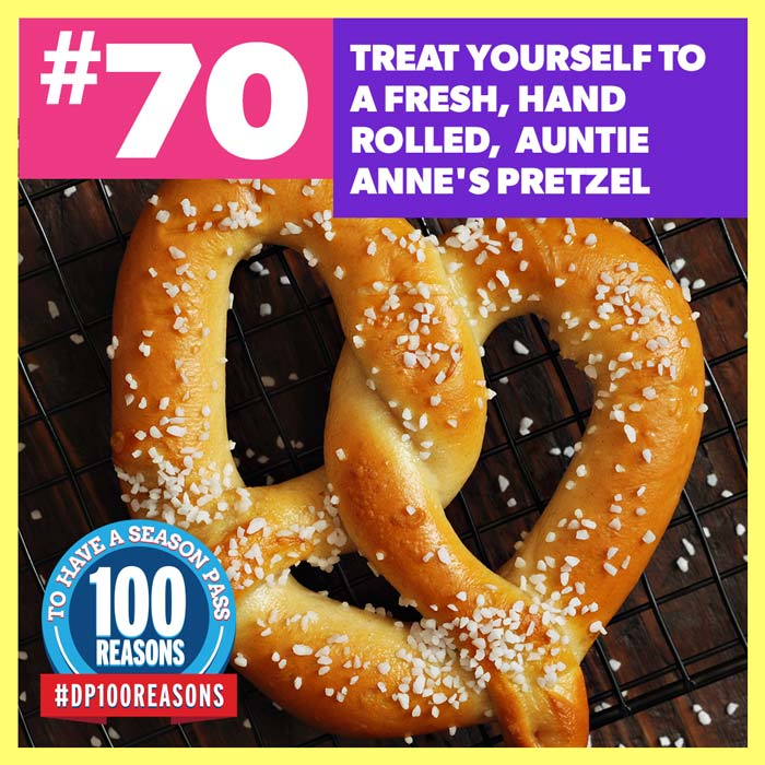 Treat yourself to a fresh, hand rolled, Auntie Anne's pretzel.
